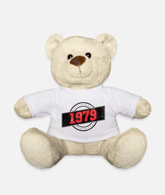 Born In Teddy Bear Toys - 1979 year of birth - Teddy Bear white