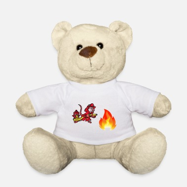 Firefighter in action cartoon comic - Teddy Bear