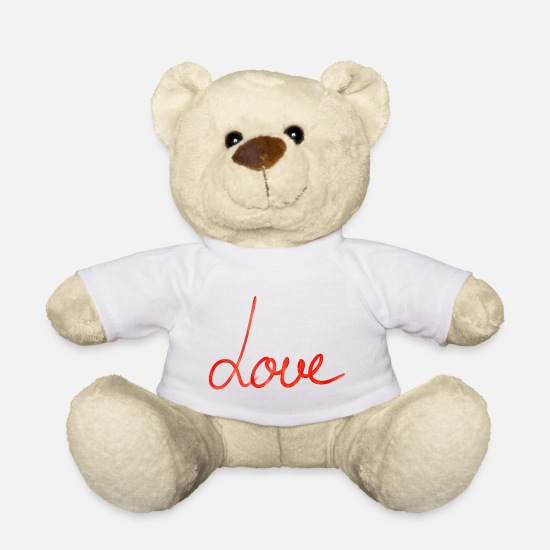 Love Teddy Bear Toys - love - Teddy Bear white
