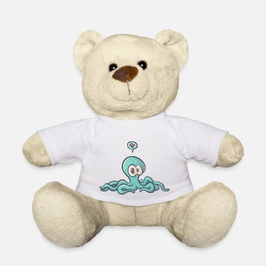 Spreadshirtlikes octopus love - Ours en peluche