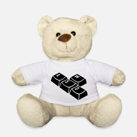 Keyboard Teddy Bear Toys - keyboard - Teddy Bear white