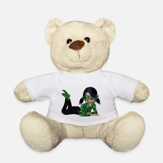 Luck Teddy Bear Toys - Lucky girl - Teddy Bear white