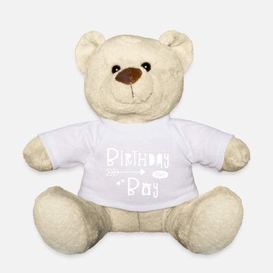 Birthday Teddy Bear Toys - Birthday Boy - Boys - Boy - Boys - Child - Kids - Teddy Bear white