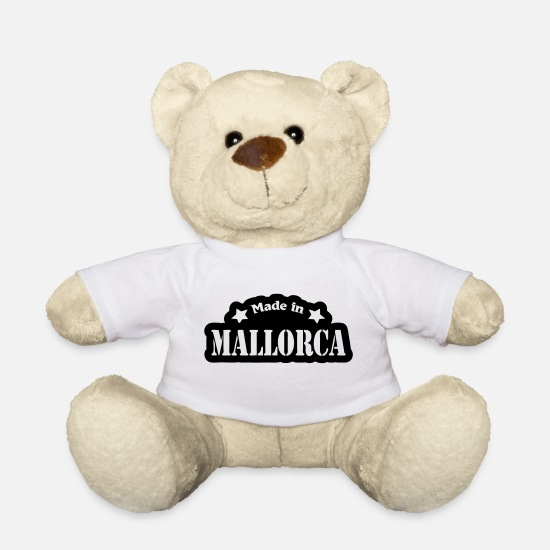 I Love Teddy Bear Toys - Made in Mallorca - Teddy Bear white