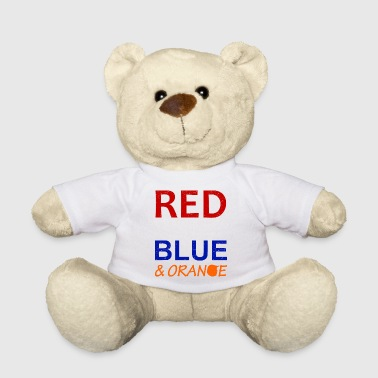 Red White Blue and Orange - Teddy Bear