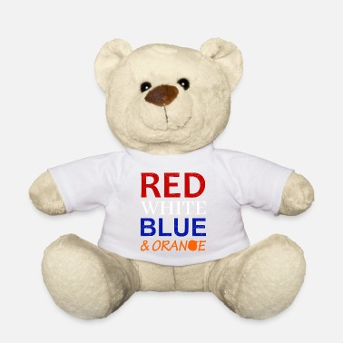 Red White And Blue Red White Blue and Orange - Teddy Bear