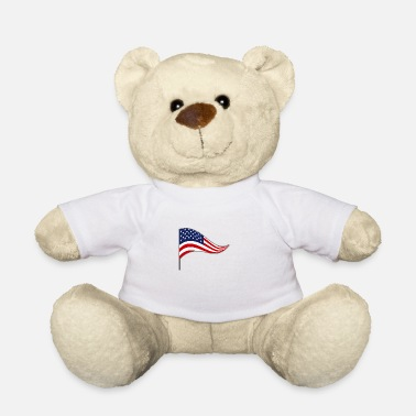 Flags Flag, flag, country flag, flag, USA, America - Teddy Bear