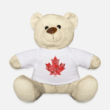 Leaf Canada Maple Leaf Maple Leaf Canada America Grunge - Teddy Bear