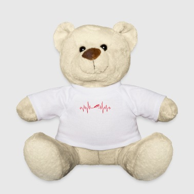 Ski jumping skis jump gift EKG heart - Teddy Bear