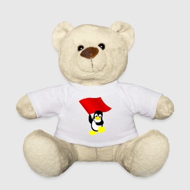 Tux with red flag - Teddy Bear