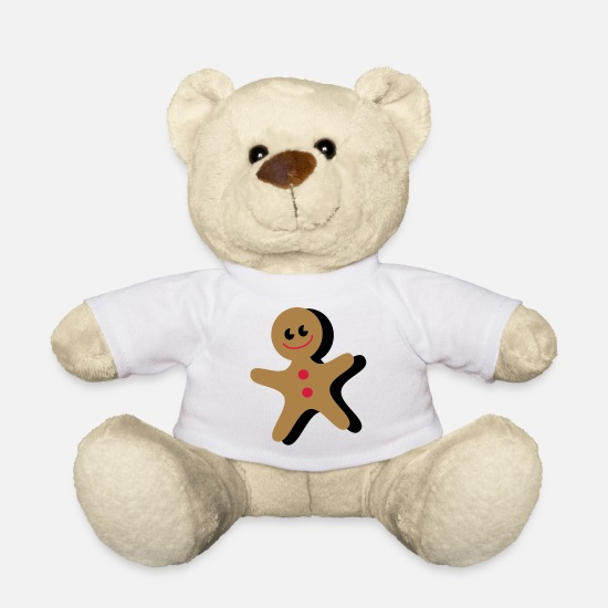 Year Teddy Bear Toys - gingerbread - Teddy Bear white