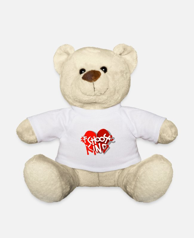 Plain Teddy Bear Toys - #ChooseKind Novelty Designs - Teddy Bear white