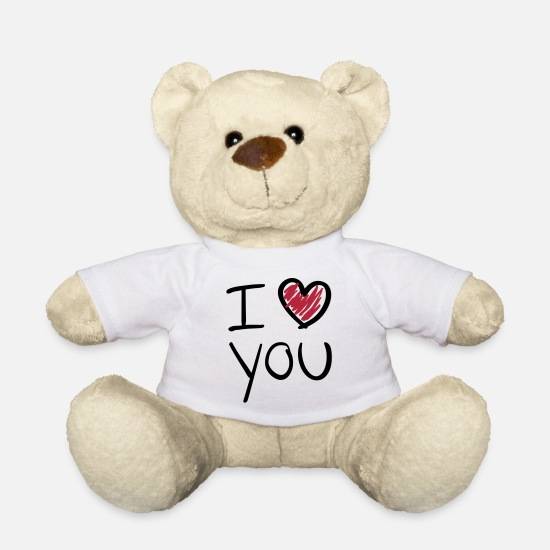 Saint Peluches - i_love_you__f2 - Ours en peluche blanc