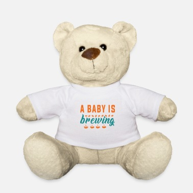 Pregnancy Funny Pregnancy Announcement A baby is brewing - Teddy Bear