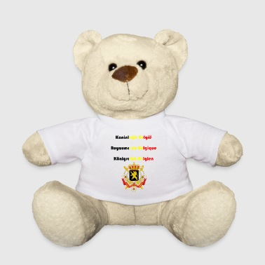 Belgium in three national languages coat of arms - Teddy Bear