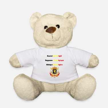 Dutch Belgium in three national languages coat of arms - Teddy Bear