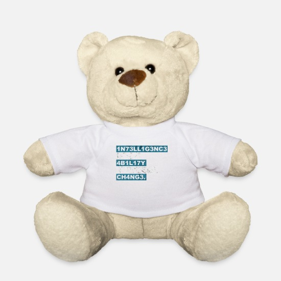 Wise Teddy Bear Toys - Intelligence the ability to change gift - Teddy Bear white