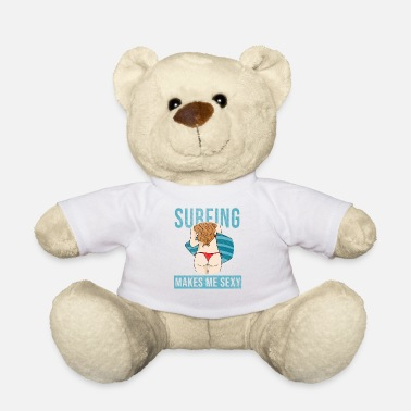 Sexy Butt Surfing woman butt sexy gift idea - Teddy Bear