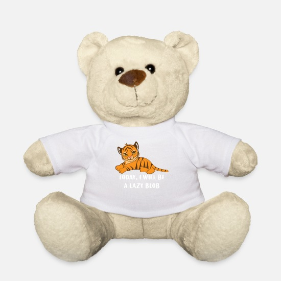 Sloth Teddy Bear Toys - Tiger - Tiger fan - Tiger lover - Loafers - Teddy Bear white