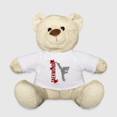 Taekwondo Martial Arts Distressed Kick Style - Teddy Bear