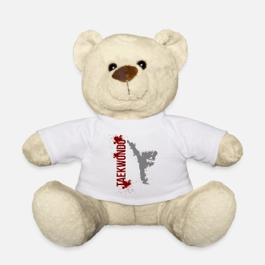 Taekwondo Taekwondo Martial Arts Distressed Kick Style - Teddy Bear