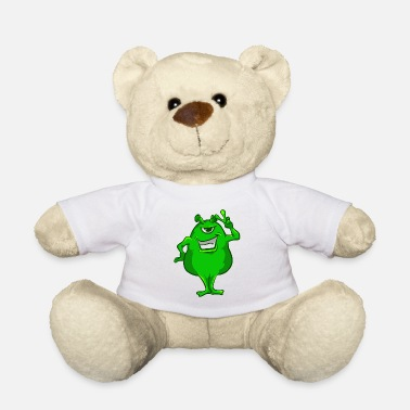 Green Peace Camiseta Green Alien Hand Peace Sign Camiseta Cute One-Eyed - Osito de peluche