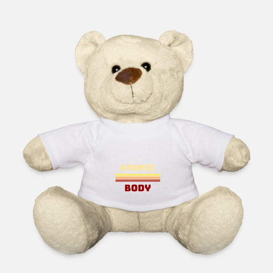 Chernobyl Teddy Bear Toys - Atomic atom body - Teddy Bear white