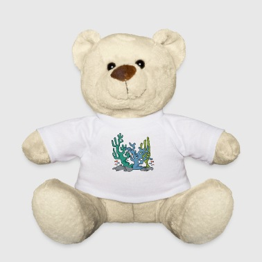 Coral reef nature navy aqua gift idea - Teddy Bear
