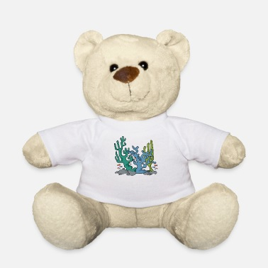 Coral Reef Coral reef nature navy aqua gift idea - Teddy Bear