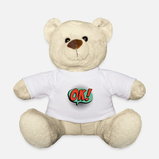 Speech Balloon Teddy Bear Toys - OK!! speech bubble - Teddy Bear white