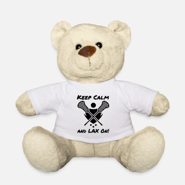Lacrosse Lacrosse Keep Calm and LAX On Lacrosse Player - Teddy Bear