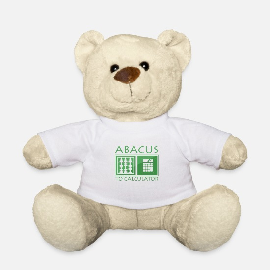 Easter Teddy Bear Toys - Abacus to the calculator - Teddy Bear white