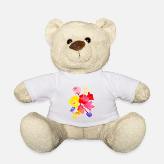 Emancipation Teddy Bear Toys - Wild tulips - Teddy Bear white