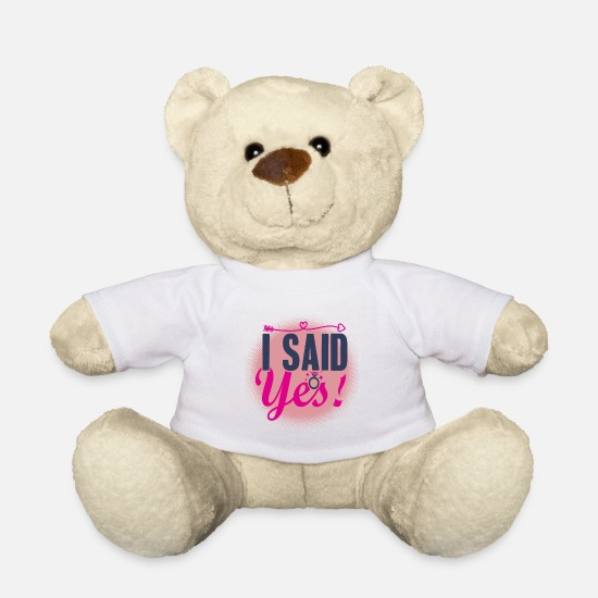 Bachelorette Party Teddy Bear Toys - Bachelorette Party | Bachelorette - Teddy Bear white