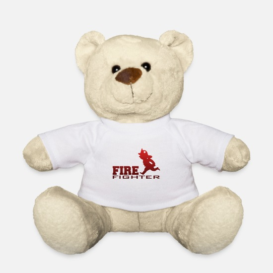Heat Teddy Bear Toys - Fire fighter - firefighter - Teddy Bear white