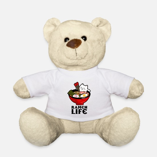 Gift Idea Teddy Bear Toys - Ramen Life Essen Suppe - Teddy Bear white