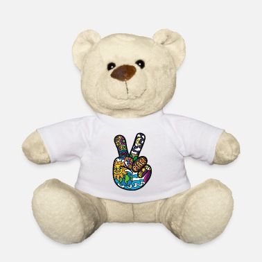 Peace Sign Peace Sign Peace and Peace Hemp sign - Teddy Bear
