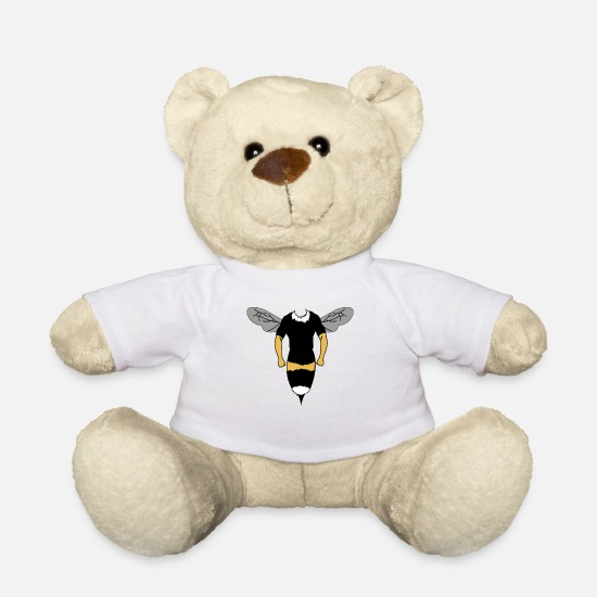 Gift Idea Teddy Bear Toys - Beekeeper Bee Costume - Teddy Bear white