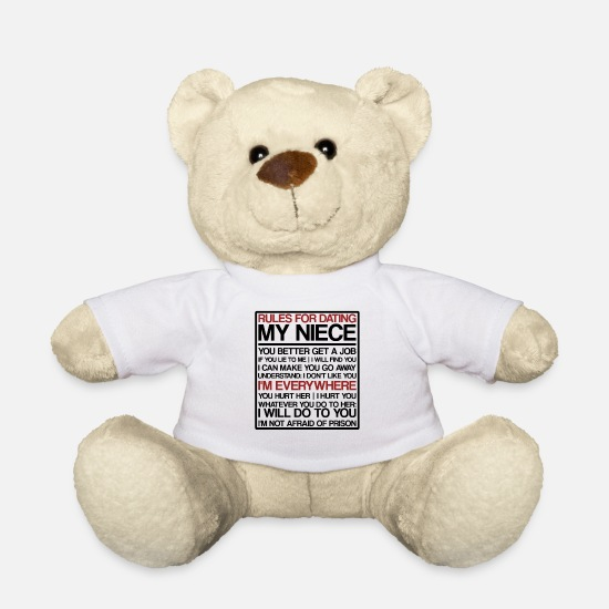 Uncle Teddy Bear Toys - Rules For Dating My Niece | Uncle, niece, Date - Teddy Bear white