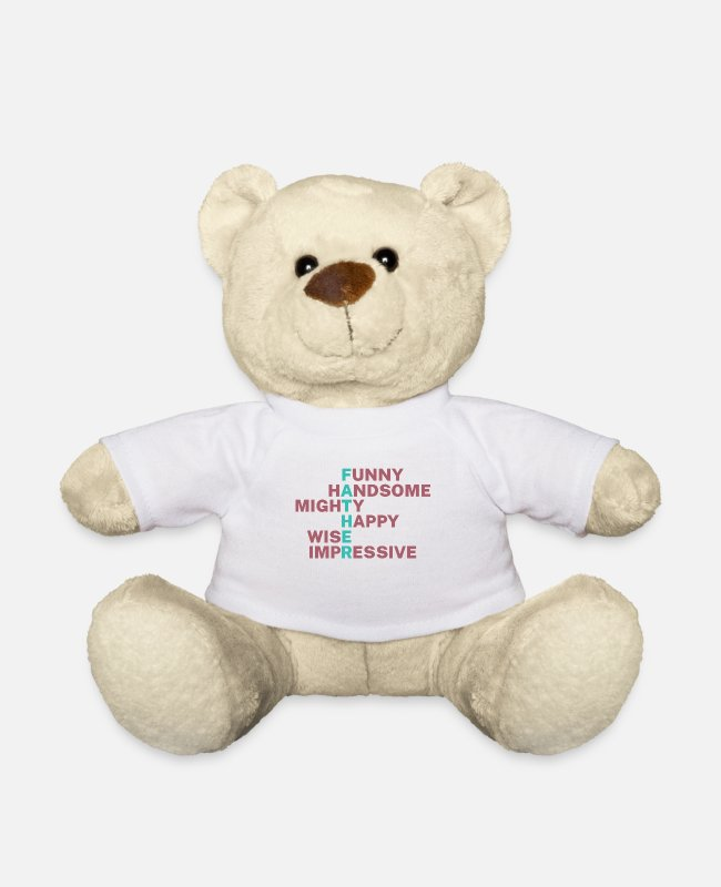 Father And Son Teddy Bear Toys - father - Teddy Bear white