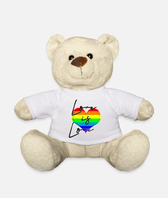 I Love Teddy Bear Toys - love is love - Teddy Bear white
