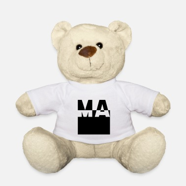 Below Simple letters Design Ma - Gift Mom - Teddy Bear