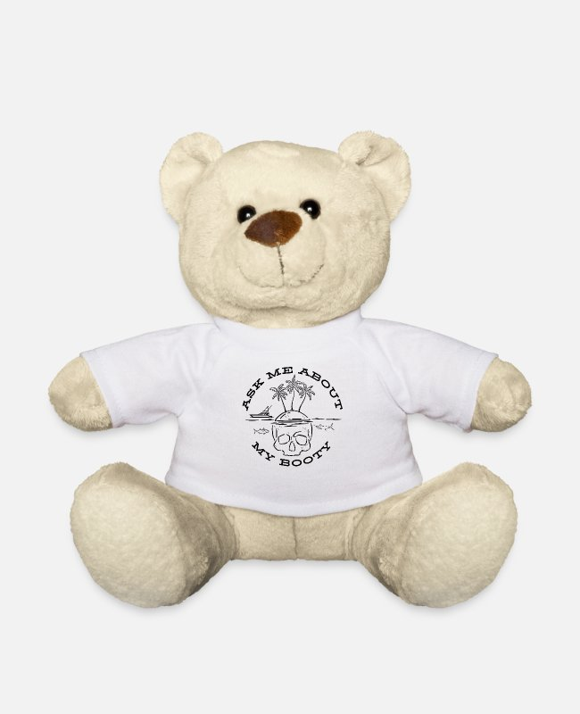 Acta Teddy Bear Toys - Pirate Booty Costume / Skull Island, Palms / - Teddy Bear white