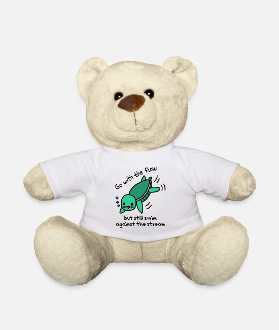 Wave Teddy Bear Toys - Swim with the flow - swim against the current - Teddy Bear white