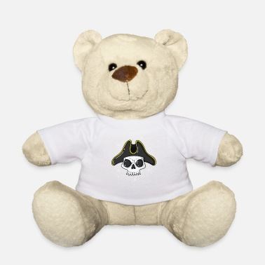 Pirate Flag Pirate skull with a cool pirate hat - Teddy Bear