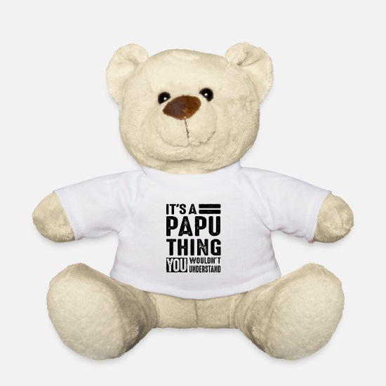 Father's Day Teddy Bear Toys - It's A Papu Thing Fathers Day Men Grandpa Gift - Teddy Bear white