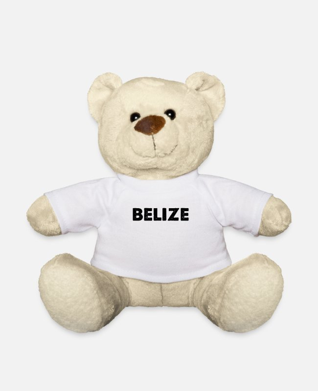 South America Teddy Bear Toys - BELIZE national pride home country home travel - Teddy Bear white
