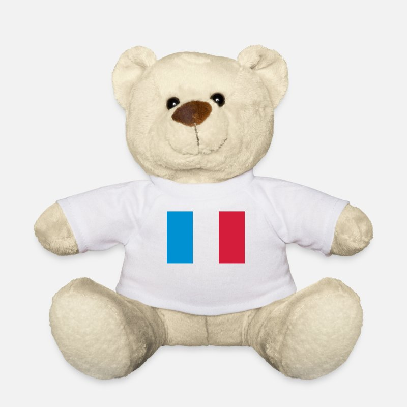 Europe Teddy Bear Toys - National flag of France - Teddy Bear white
