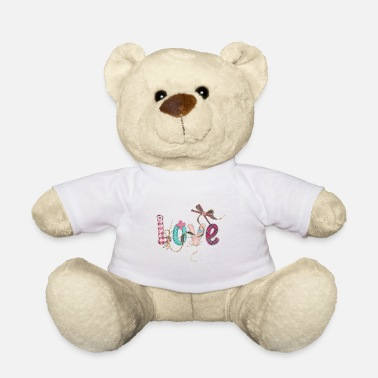 LOVE SCRIPT WITH SEWING ACCESSORIES - Teddy Bear
