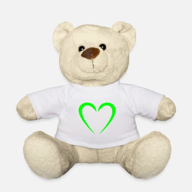 Vector Heart Modern green - Teddy Bear